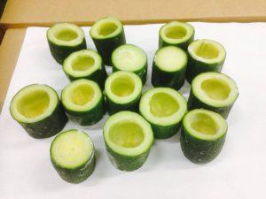 zucchini iqf frozen tubes deepfrozen