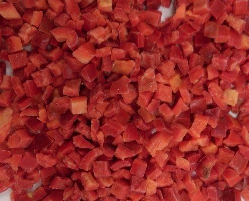 cubes 10x10 pepper iqf