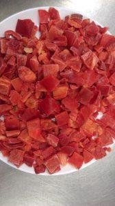 cubes 20x20 red pepper