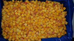 frozen peach cubes