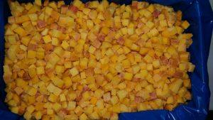 dices peach 14mm frozen